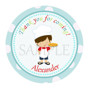 Pizza Party sticker Cupcake Topper, Tags,. Birthdays and Baby Shower. Pizza printable. Digital file
