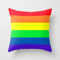 Gay Throw Pillow by Tony Vazquez