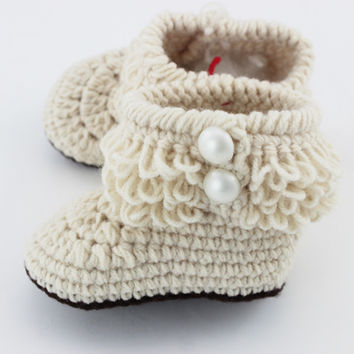 Newborn/ Toddler Crochet Booties, SALE