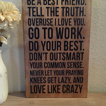 "Distressed Wood Sign - ""Love Like Crazy"" - Lee Brice Song"