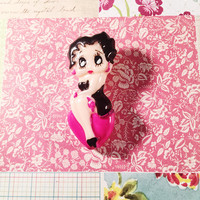 Vintage Betty Boop Brooch, Celluloid Brooch, Vintage Jewelry, Cartoon Character