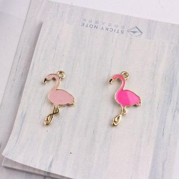 Mrhuang 10x Flamingo 17*28mm Enamel Charms Diy Bracelet Hair Necklace Jewelry Accessory Diy Craft
