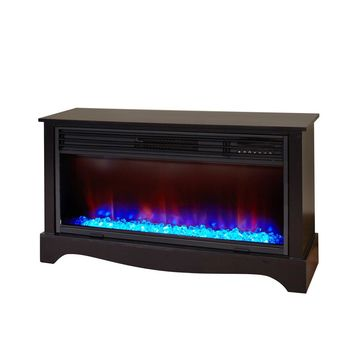 LifeSmart Lifezone Electric Infrared Media Fireplace Heater, Black