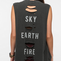 Urban Outfitters - Truly Madly Deeply Sky Earth Fire Muscle Tee