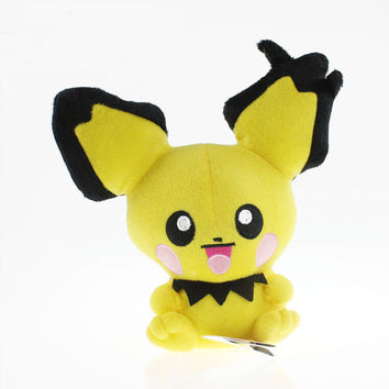 Kawaii Pichu Plush Doll Toy Stuffed Dolls 20cm Anime Brinquedos Gifts for Children Free Shipping