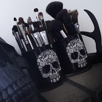 Sugar Skull Makeup Brush Holder