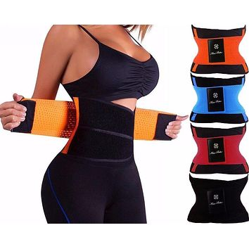 hot shapers women slimming body shaper waist Belt girdles Firm Control Waist trainer corsets plus size Shapwear modeling strap