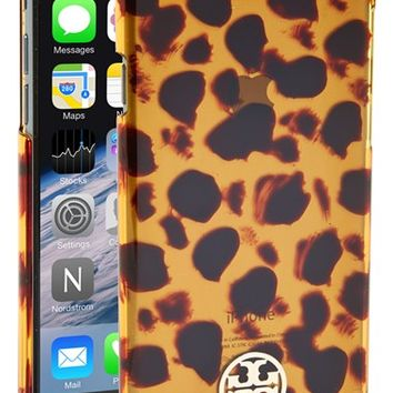 Women's Tory Burch 'Tortoise' iPhone 6 Case - Brown