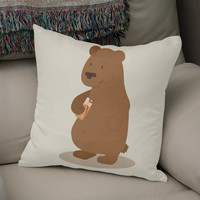 «2 doigts coupe faim», Numbered Edition Coussin by Savousepate - From 25€ - Curioos