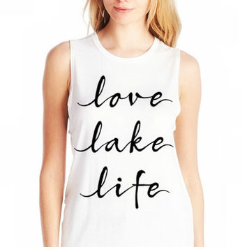 Love Lake Life Tank Top