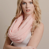 SALE-Round And Round We Go Infinity Scarf-Baby Pink