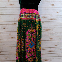 Velvet and Paisley 70s dress