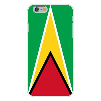 Apple iPhone 6 Custom Case White Plastic Snap On - Guyana - World Country National Flags