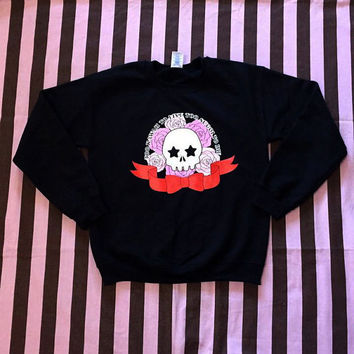 Too Kawaii To Live Too Sugoi To Die Kawaii Pastel Goth Soft Grunge Magical Girl Mahou Shoujo Anime Japanese Harajuku Sweater Sweatshirt