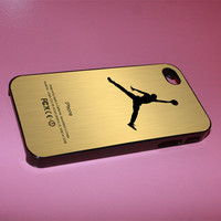jordan gold nike design iphone case for iphone 4/4s, iphone 5. iphone 5s. iphone 5c case