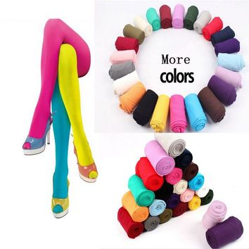 New Beauty 14 Colors Women Sexy Pantyhose Nylon Footed Tights Seamless Velvet Stockings for Women Lady Girl Leg Warmers