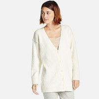 WOMEN FLUFFY YARN LOUNGE CARDIGAN (LONG SLEEVE)