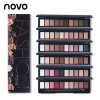 Fashion Eye Makeup Palette Natural NOVO Make Up Light Over 8 Colors Eye Shadow Shimmer Matte Eyeshadow Cosmetics Set With Brush 1PC
