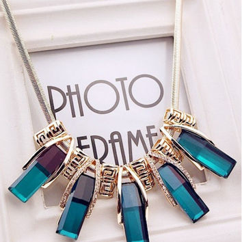 New Arrival Stylish Shiny Jewelry Gift Crystal Korean Accessory Decoration Necklace [6586303751]