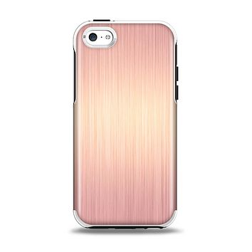The Rose Gold Brushed Surface Apple iPhone 5c Otterbox Symmetry Case Skin Set