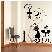 Bright Creative Colorful Stylish Love Bedroom Couple Cats Home Romantic Lights [6034262017]