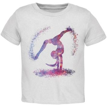 DCCKIS3 Galaxy Gymnast White Toddler T-Shirt