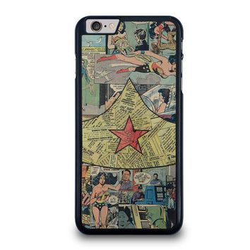 wonder woman collage iphone 6 6s plus case cover  number 1