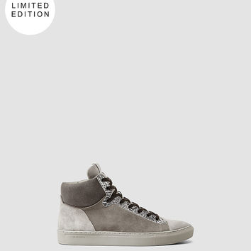 Mens Rift Crescent Hi Top (Steel Grey) | ALLSAINTS.com