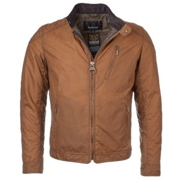 Barbour Intl Winter Sprocket Wax Jacket Tan