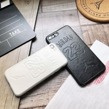 Luxury fly man Jordan 23 Soft leather cover case for apple iphone 6 S 6S plus 7 7plus 8 8plus X 10 XR XS MAX