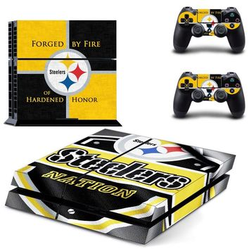 Pittsburgh Steelers PS4 Skin Sticker Decal for Sony PlayStation 4 Console and 2 controller skins PS4 Stickers Vinyl Accessory