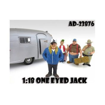 """One Eyed Jack """"Trailer Park"""" Figure For 1:18 Scale Diecast Model Cars by American Diorama"""