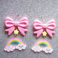 Sweet Skies  Happy Cloud and Rainbow with Star by onsecretwings