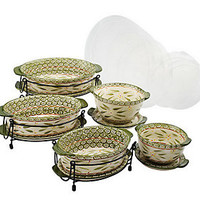 Temp-tations Old World 13-pc. Lid-it Oven-to-Table Set — QVC.com