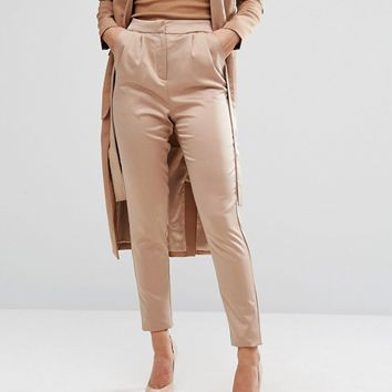 Lavish Alice Tailored Trousers In Satin at asos.com