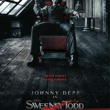 Sweeney Todd: The Demon Barber of Fleet Street (UK) 11x17 Movie Poster (2007)