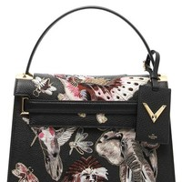 Valentino 'Animali Fantastici' Embroidered Calfskin Leather Satchel | Nordstrom