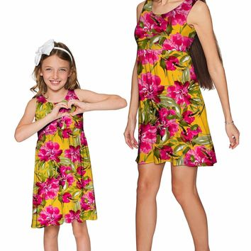 Indian Summer Sanibel Empire Waist Floral Mommy and Me Dresses