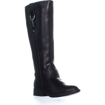 LifeStride X-Ibit Wide Calf Boots, Black, 7 W US