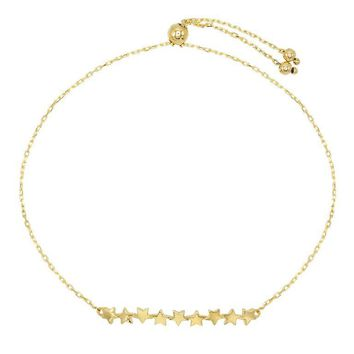 Multi Star Adjustable Bracelet 14KT