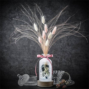 Dried flower aromatherapy oil Reed diffuser/Bottle light with love message and picure/Personalised photo frame night light table desk lamp