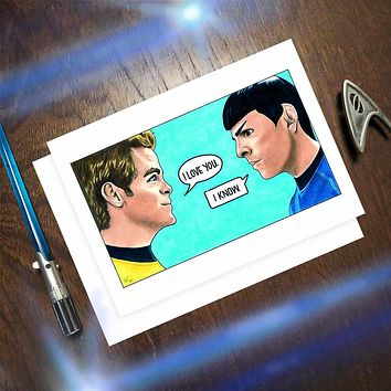 A Star Trek/Star Wars Mash-Up Card