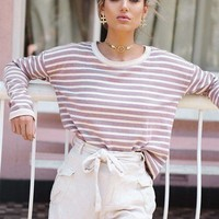 Autumn Stripes Plus Size T-shirts [11033838343]