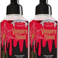 Bath&bodyworks Gentle Foaming Hand Soap 8.75oz Halloween Vampire Blood Wicked Plum Pack of 2