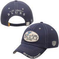 St. Louis Blues Old Time Hockey Lang Adjustable Hat - Royal Blue