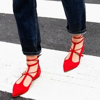 Free People Isabelle Lace Up Flat