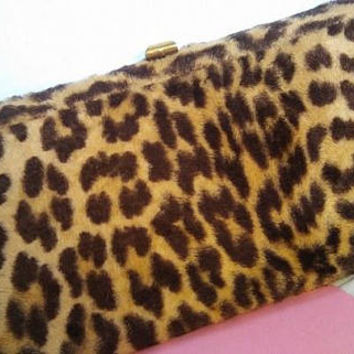 On Sale 1960's Vintage Leopard Faux Fur Handbag * Retro Rockabilly Mid Century Collectible Clutch Purse * Old Hollywood Regency Glamour