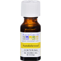 Aura Cacia Precious Essentials Sandalwood Blended With Jojoba Oil - 0.5 Fl Oz