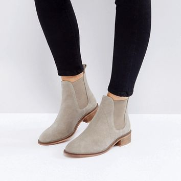 ASOS ABSOLUTE Suede Chelsea Ankle Boots at asos.com