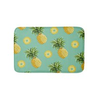 cute yellow pineapples bathroom mat